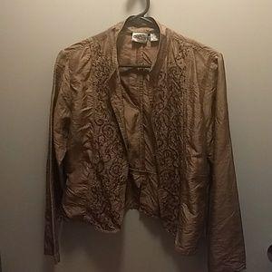 Chico's bronze colored jacket